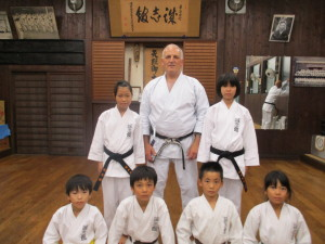 Karate kids at the Seishikan Hombu 2015